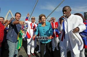 Dilma inaugura ponte estaiada, estacao do BRT e obras de ampliacao do Terminal 2 2