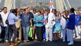 Dilma inaugura ponte estaiada, estação do BRT e obras de ampliação do Terminal 2