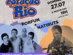 Aterro do Cocota recebe Natiruts e Forfun em shows gratuitos