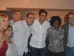 Pedro Paulo, Carlos Osorio e Nelson Miraldi promovem coquetel no Monero
