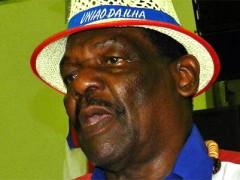 Alfredo Fumaca e o candidato da Uniao da Ilha no concurso Cidadao do Samba