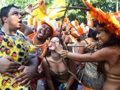 Animacao e irreverencia marcaram o desfile do bloco Se Cair Eu Como