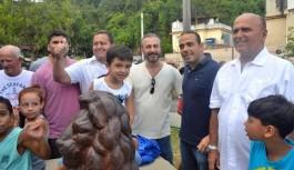 Nova 'Estátua do Leão' é entregue aos moradores do Zumbi