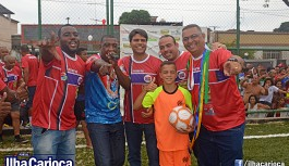 Reinauguração do campo de futebol do Futuro Rio