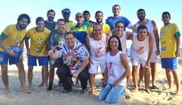 Jogos dos Guerreiros animou a Praia da Bica com esporte, dança e solidariedade
