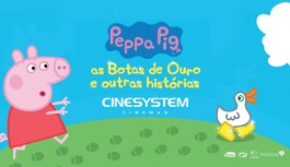 Episódios inéditos de Peppa Pig chegam ao cinema no Ilha Plaza