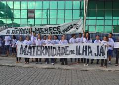 Moradores protestam por reabertura de maternidade na Ilha do Governador