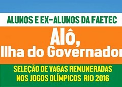 FAETEC e Rio 2016 realizam feirão de trabalho na quadra da União da Ilha