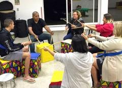 Oficinas de Percussão com Mestre Xula na Vila Olímpica
