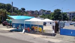 Batalhão da PM na Ilha com manifestação que impede a saída das viaturas