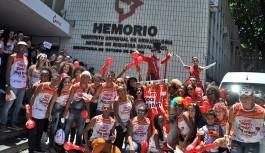 Bloco anima foliões e doadores de sangue no Hemorio