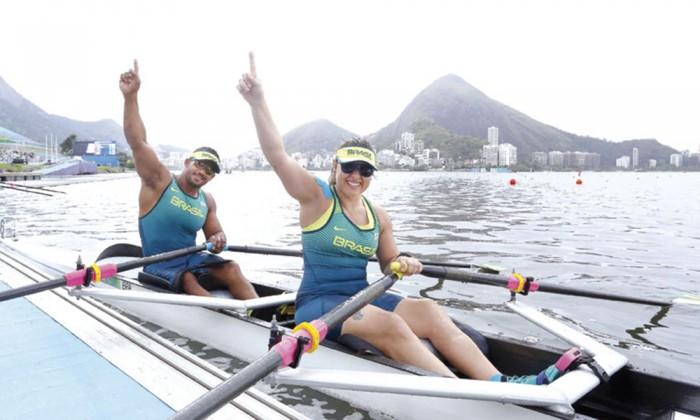 Paralimpíada: primeiro dia da competição de remo no Estádio da Lagoa. Atletas Josiane Lima e Michel Pessanha - Foto: Clarice Castro