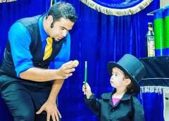 Shows de Palhaços e do Mágico Diran animam o fim de semana no Ilha Plaza