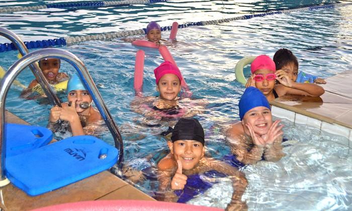 As atividades na piscina voltaram a ser realizadas nos últimos dias