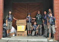 União de jovens escoteiros rende ótima doação à grupo social na Ribeira