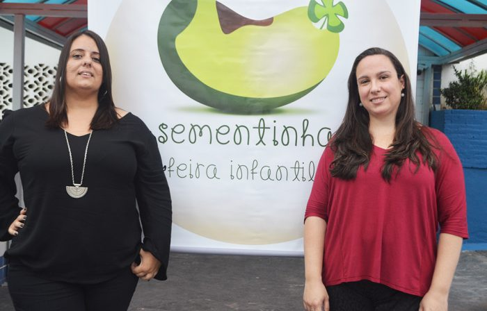 As produtoras Paula Nogueira e Aline Werlang