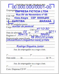 Contrato de Trabalho na CTPS